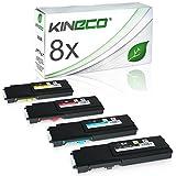 8 Toner Kompatibel für Dell C2660DN, C2665DNF, C2600 Series - 593BBBM - Schwarz je 3.000 Seiten, Color je 4.000 Seiten