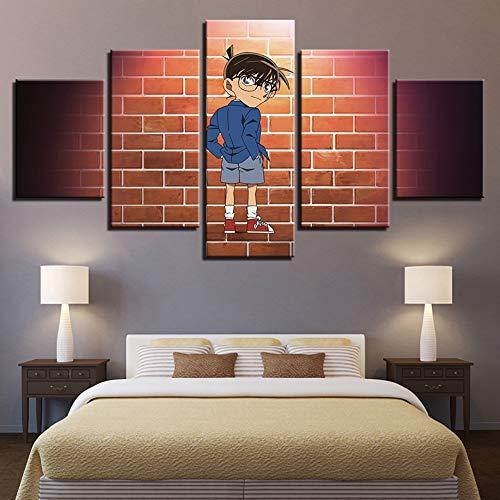 Hi!Hi Detective Conan Cartoon Wall Art Prints 5 Piezas...