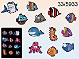 Fische Comic Magnet Kühlschrankmagnet Kinder Sea Animals