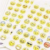 SCRAPBOOKING  Lot de 5 Planches de 48 Stickers Emoji Emoticones - Autocollants HD - Scrapbooking, Bullet Journal, Kawaii, Décoration, Customisation, Création, Bricolage, Loisir Créatif