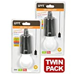 LYTT 410.385 - x 2 LED Pull Cord Hanging Lights Portable for Garages