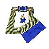 Ahorn KRAFTS Baumwolle Baby Bettwäsche Set Super angenehm weiches 0–24Monate Royal Blau und Gelb mit Kissen