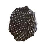 Lux4Kids Kinderwagen Sonnenschirm mit variablem Schwenkarm 15 Schwarz Weiße Punkte