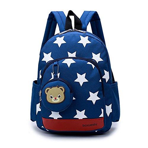 Dafenq zainetto 3d orso bambino scuola zaino per prescolastico infanzia borsa graziosa carino per bambini ragazzi ragazze (blu scuro)