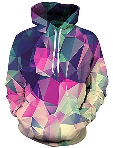 LAIDIPAS Vêtements de sport pour hommes Sweats à manches longues Hoodies 3D Print Jumpers S
