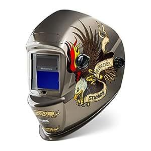 Stamos Germany - Advanced Series - casque de soudage automatique - Eagle Eye - DIN 9-13 - cellules photovoltaïques - 0,55 kg