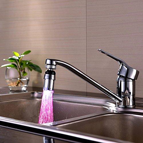 Clearane! WATOPI - Rubinetto da cucina con luci a LED che cambiano 7 colori, accessorio per la casa per lavelli da cucina e bagno