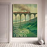 yhnjikl Harry Potter Poster New Vintage Hogwarts Express Canvas Posters Prints Wall Art Painting Decorative Picture Modern Home Decor HD 40x60cm sans Cadre