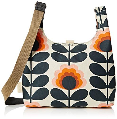 Orla Kiely - Summer Flower Stem Midi Sling Bag, Borse a Tracolla Donna Yellow (Sunset)