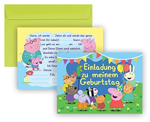 Peppa Wutz - Peppa Pig Einladungskarten 16-teilige Geburtstag Kindergeburtstag Einladungen (Peppa Pig Peppa)