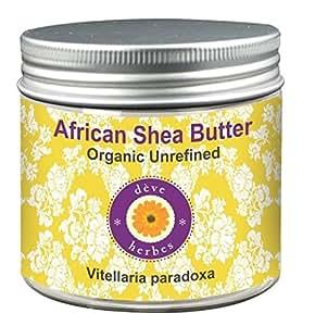 Deve Herbes Organic African Shea Butter - Unrefined (Vitellaria paradoxa) 50gm