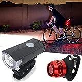HCFKJ USB aufladbare LED Fahrrad Radfahren Frontscheinwerfer Scheinwerfer Lampe Torch
