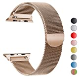 VIKATech Correa de Repuesto Compatible con Apple Watch de 44 mm, 42 mm, 40 mm, 38 mm, Milanese Loop Correa de Repuesto de Acero Inoxidable para iWatch Series 4/3/2/1