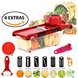 Mandoline Slicer | 10 in 1 Vegetable & Fruit Chopper Shredder Cutter Dicer