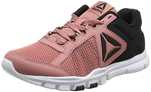 Reebok Yourflex Trainette 9.0 MT, Zapatillas de Gimnasia para Mujer, Rosa (Sandy Rose/Black / White), 38 EU