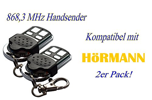 2x YET Handsender 868 MHz für Hörmann und Marantec Garagentorantriebe. Ersetzt HSM 4 HSE 2 HS 4 HSP HSD Digital 302 - 304 - 313 - 321