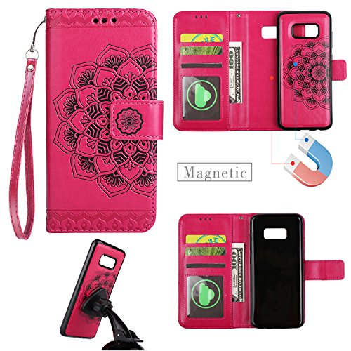 jhtc Schutzhülle für Samsung Galaxy S8Flip Wallet Schutzhülle magnetisch Abnehmbare 2in...