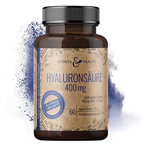 Hyaluronsäure Kapseln Hochdosiert Aus Bester Qualität 400 mg Fermentiert Als 60 Vegane Kapseln Für Gelenke, Haut Und Anti Aging