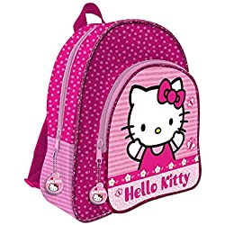 HELLO KITTY Mochila 41 cm con 2 cremalleras adaptable a carro trolley