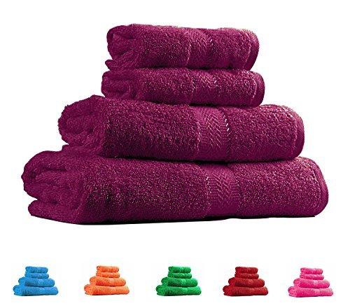 Trident Deep Purple 4 Pcs Couple Bath Towels Set (Bath...