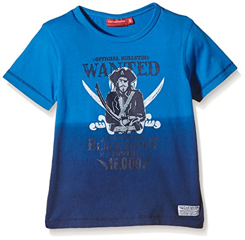 en T-Shirt Pirat Wanted, Einfarbig, Gr. 92 (Herstellergröße: 92/98), Blau (scuba blue 458) (Piraten Shirt Kinder)