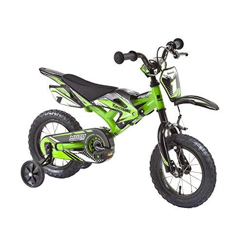 Kinderfahrrad Kawasaki Kids Bike Moto 12 Zoll mit Rücktrittbremse Farbe: Grün