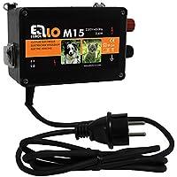 Clôture électrique Ellofence M15–Ultra silencieux. Protection contre les chiens, les chats et autres petits animaux, 230V