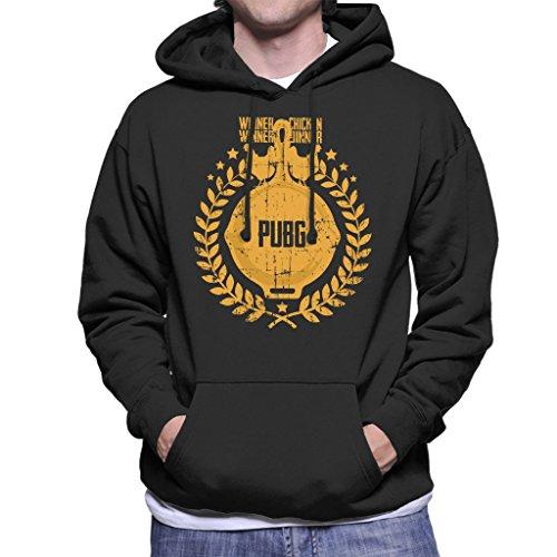 Cloud City 7 PlayerUnknown Battlegrounds Chicken Dinner Pan Crest Men's Hooded Sweatshirt