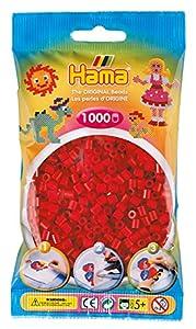 Hama- Bolsa con Cuentas, Color Rojo (207-22)