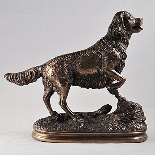Thorne Antiques & Collectables Bronzestatue Golden Retriever - Antique Bronze Gold Finish
