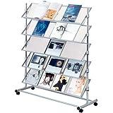 Estante para catálogos sobre ruedas, 5 pisos, aprox. ancho 100 x fondo 43 x altura 126 cm