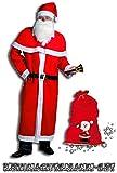 Idena 8580108 Weihnachtsmann Kostüm, 5-teilig, rot / Kombi-Set (mit Filzsack + Glocke)