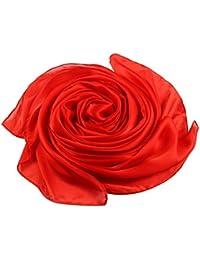 99a3fdbf988 ACMEDE Echarpe Foulard Long Doux Elegant En Soie Coton Cou Wrap Chale Pour  Femme Ete Hiver