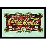 Empireposter - Coca Cola - Postkarte - Größe (cm), ca. 30x20 - Bedruckter Spiegel Bedruckter Wandspiegel mit schwarzem Kunststoffrahmen in Holzoptik