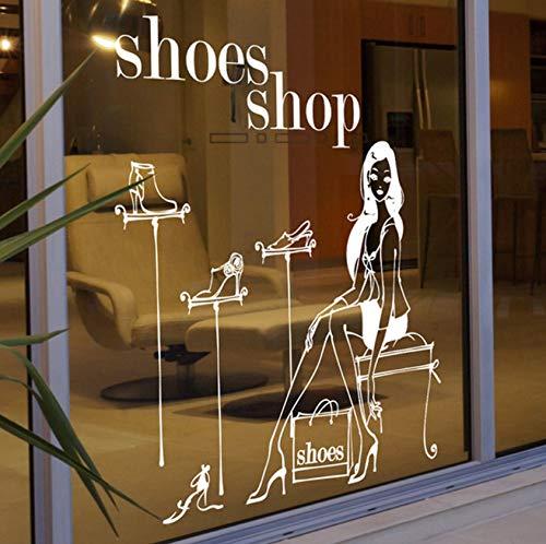 Pbldb Mode Shopping Mädchen Aufkleber Kleidung Läden Schuhe Handtaschen Shop Fensterglas Schuh Wandaufkleber 75X95Cm