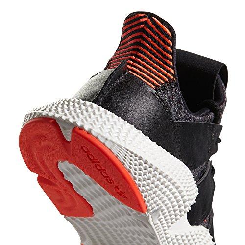adidas Originals Prophere Black and Grey CQ3022, CQ3023. Primavera/Estate 2018. per Gli Amanti della Sneaker. Core Black/Core Black/Solar Red