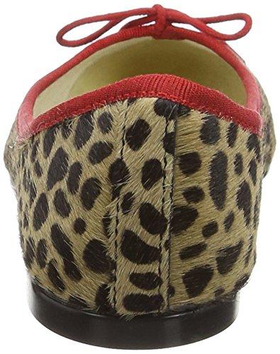 French Sole Inida Leopard Pt112, Ballerine Donna Beige (Beige (Leopard))
