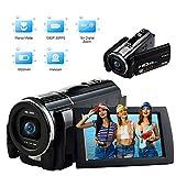 Videocamera Full HD 1080P 30FPS 24.0MP Vlogging Camera Macro Messa a Fuoco Touch Screen 3 Pollici Fotocamera Digitale con Telecomando