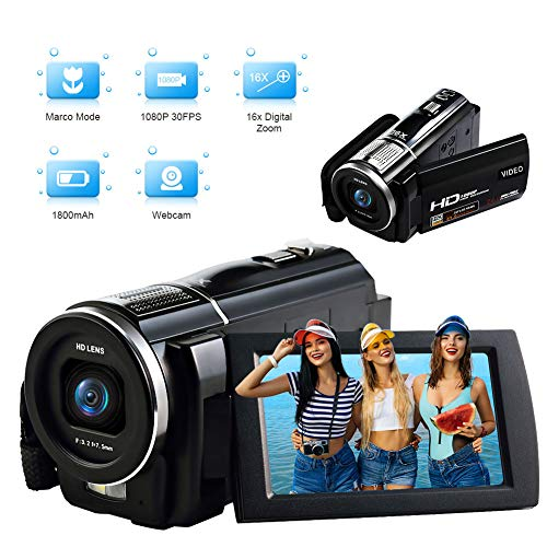 Videocámara Full HD Camara Video 1080P 30FPS 24.0MP