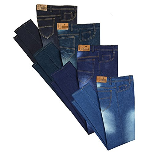 London Looks Men Slim Fit Multi Color Jeans (Combo Of 4) (Light...