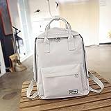Einfache Farbe Canvas Bag Rucksack Tasche Student Computer Rucksack Hellgrau