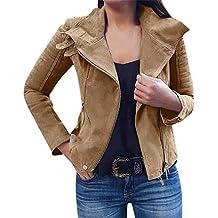 Beladla Chaqueta Abrigo Chaqueta Extragrande Casual Trenca Abrigo Mujer Elegante Alto Manga Larga Casual Outwear con