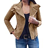 iHENGH Neujahrs Karnevalsaktion Damen Winter Jacke Dicker Warm Bequem Slim Parka Mantel Lässig Mode Frauen Retro Rivet Zipper Up Bomberjacke Outwear