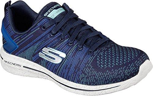 Skechers Burst Walk, Sneaker Donna Blu (Navy/turquise)