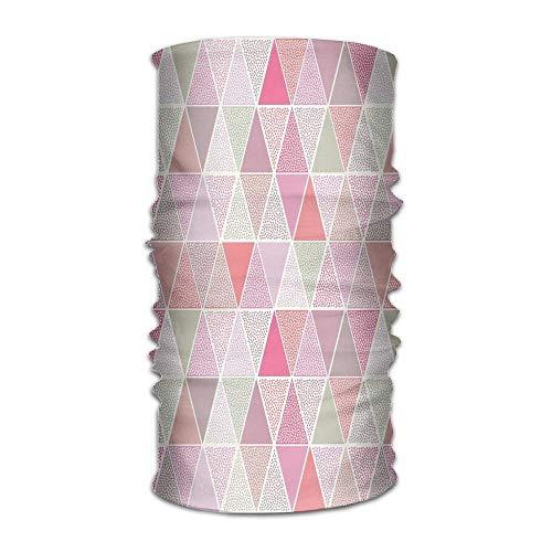 Women Men Turban Colorful Geometric Design Triangles with Polka Dots Octagon Shape Pattern Triangular Fashion Headpiece Octagon Dot