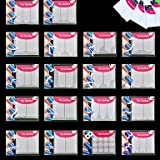 18x Packs Smile-Linie Nail Art Maniküre-Aufkleber-Shape Winkel Kurve