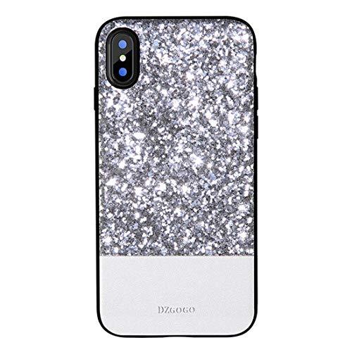 Shiduoli Die Tasche ist kompatibel mit dem iPhone X Case, dem iPhone 6 Case und dem luxuriösen handgefertigten Gold Glitzer Gehäuse (Color : Silver, Size : iPhone 7p/8p)