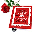 Tied Ribbons Special Gift for Wife Love You Forever Printed Greeting Card with Locket and Red Rose