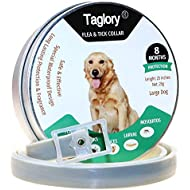 Flea and Tick Collars for Dogs / 8 Months Protection/Waterproof & Nature & Safe / 25 inches/Fits Small Medium Large Dogs and Cats
