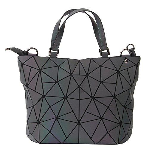 Damen PU Umhängetasche Geometrische Muster Top Handle Bag,Ms3136-OneSize